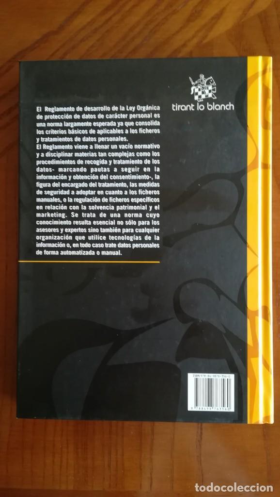 Libros: Protección de datos Comentarios al Reglamento de Desarrollo de la LOPD - Foto 5 - 210442283