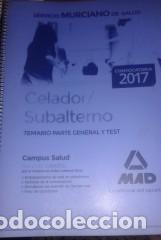 TEMARIO CELADOR 2017 SERVICIO MURCIANO DE SALUD. (Libros Nuevos - Oposiciones)