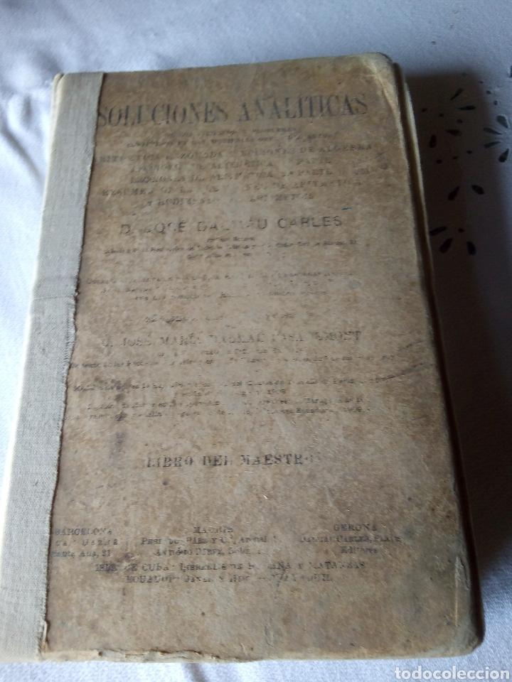SOLUCIONES ANALÍTICAS EJERCICIOS Y PROBLEMAS AÑO 1921 (Libros Nuevos - Oposiciones)