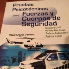 Libros: PRUEBAS PSICOTECNICAS PARA FUERZAS Y CUERPOS DE SEGURIDAD. Lote 229608195