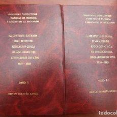 Libros: TESIS DOCTORAL. Lote 262206315