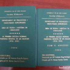 Libros: TESIS DOCTORAL. Lote 262214600