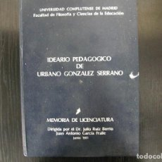 Libros: MEMORIA DE LICENCIATURA. Lote 262378185
