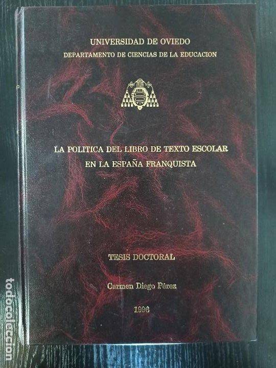 TESIS DOCTORAL (Libros Nuevos - Oposiciones)