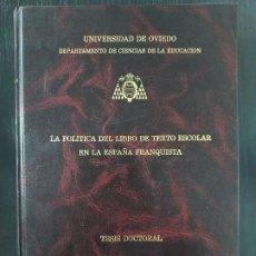 Libros: TESIS DOCTORAL. Lote 265196104