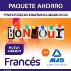 Libros: PAQUETE AHORRO FRANCÉS CUERPO DE PROFESORES DE ENSEÑANZA SECUNDARIA. Lote 286827803