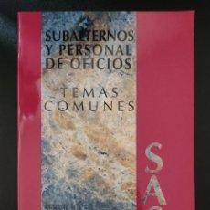 Libros: TEMARIO PARTE COMÚN OPOSICIONES SAS. Lote 290708033