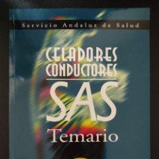 Libros: TEMARIO CELADOR CONDUCTOR/ CELADORES SAS. Lote 290708608