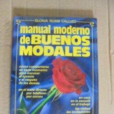 Libros: MANUAL DE BUENOS MODALES - URBANIDAD - PRECINTADO / ROSSI CALLIZO - EDUCACION. Lote 49913519