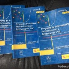 Libros: PROGRAMA DE INTERVENCION SENSIBILIZACION Y REEDUCACIÓN. Lote 103820640
