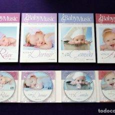 Libros: COLECCION BABY MUSIC. 4 CD MUSICA CLASICA PARA BEBES Y SUS LIBROS DIDACTICOS. NUEVOS. DORMIR.RELAX... Lote 111772911