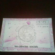 Libros: GUIX. ELEMENTA D'ACCIÓ EDUCATIVA.. Lote 114910984