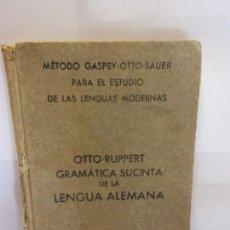 Libros: BJS.OTTO RUPPERT.GRAMATICA SUCINTA DE LA LENGUA ALEMANA.EDT, BASTINOS.BRUMART TU LIBRERIA.. Lote 146249102