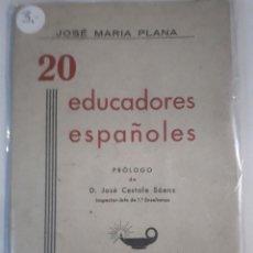 Libros: EDUCADORES ESPAÑOLES . Lote 150943846