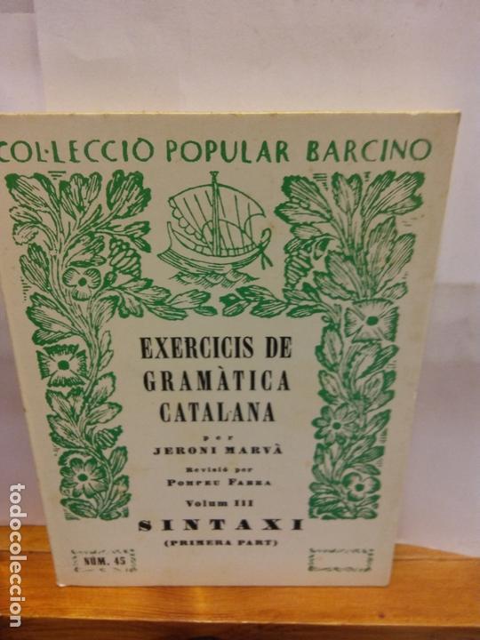 STQ.JERONI MARVA.EXERCICIS DE GRAMATICA CATALANA.EDT, BARCINO.BRUMART TU LIBRERIA. (Libros Nuevos - Educación - Pedagogía)