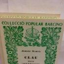 Libros: STQ.JERONI MARVA.CLAU DELS EXERCICIS DE GRAMATICA CATALANA.EDT, BARCINO.BRUMART TU LIBRERIA.. Lote 163822230
