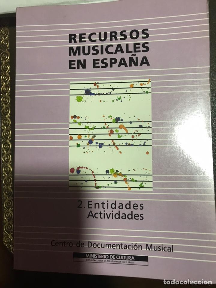 Libros: RECURSOS MUSICALES EN ESPAÑA 1991, 2 VOLÚMENES. CENTRO DOCUMENTACIÓN MUSICAL. - Foto 2 - 182115465