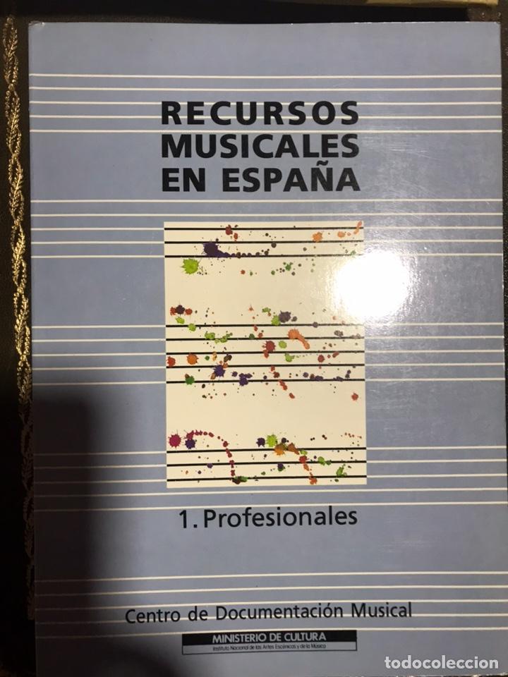Libros: RECURSOS MUSICALES EN ESPAÑA 1991, 2 VOLÚMENES. CENTRO DOCUMENTACIÓN MUSICAL. - Foto 3 - 182115465