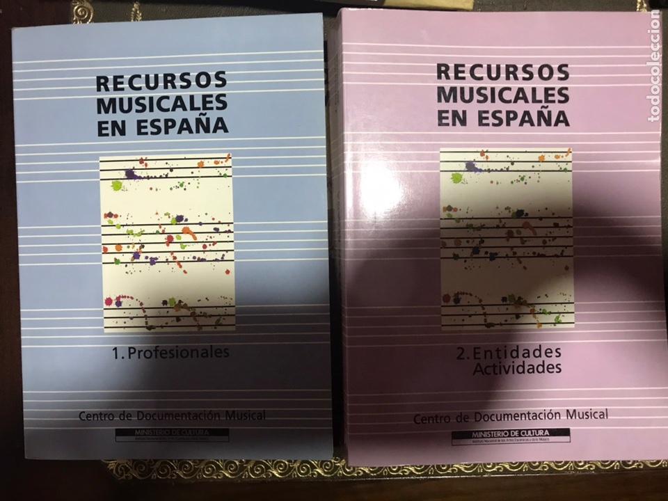 RECURSOS MUSICALES EN ESPAÑA 1991, 2 VOLÚMENES. CENTRO DOCUMENTACIÓN MUSICAL. (Libros Nuevos - Educación - Pedagogía)