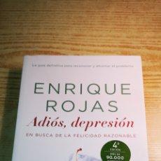 Libros: ADIÓS, DEPRESIÓN DE ENRIQUE ROJAS A ESTRENAR. Lote 196975415
