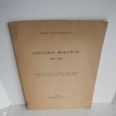 Libros: PEDRO LAÍN ENTRALGO. GREGORIO MARAÑÓN. SEPARATA DE BOLETÍN DE REAL ACADEMIA,1960. DEDICADO POR AUTOR. Lote 199355055