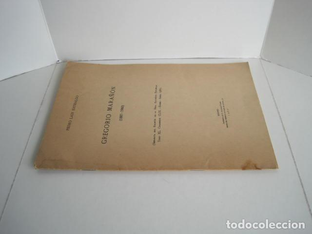Libros: PEDRO LAÍN ENTRALGO. GREGORIO MARAÑÓN. SEPARATA DE BOLETÍN DE REAL ACADEMIA,1960. DEDICADO POR AUTOR - Foto 2 - 199355055