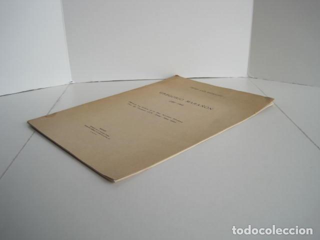 Libros: PEDRO LAÍN ENTRALGO. GREGORIO MARAÑÓN. SEPARATA DE BOLETÍN DE REAL ACADEMIA,1960. DEDICADO POR AUTOR - Foto 3 - 199355055