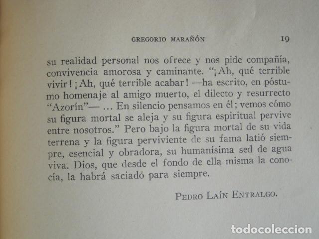 Libros: PEDRO LAÍN ENTRALGO. GREGORIO MARAÑÓN. SEPARATA DE BOLETÍN DE REAL ACADEMIA,1960. DEDICADO POR AUTOR - Foto 7 - 199355055