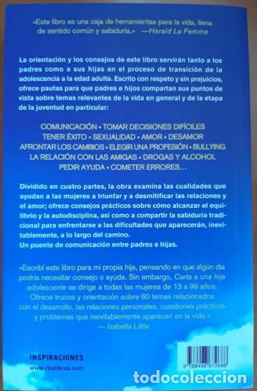 Libros: CARTA A UNA HIJA ADOLESCENTE - Foto 2 - 201289811