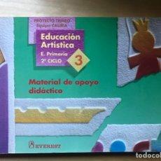 Libros: EDUCACIÓN ARTÍSTICA - E. PRIMARIA 2º CICLO 4, MATERIAL DE APOYO DIDÁCTICO - ED. EVEREST. Lote 203197862