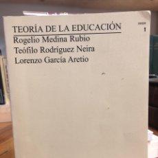 Libros: TEORÍA DE LA EDUCACIÓN. Lote 208470716