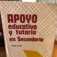 Libros: APOYO EDUCATIVO Y TUTORÍA EN SECUNDARIA. Lote 208471485