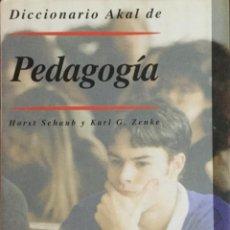 Libros: DICCIONARIO AKAL DE PEDAGOGÍA. NUEVO. REF: AX739. Lote 215517410