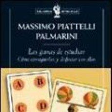 Libros: LAS GANAS DE ESTUDIAR. COMO CONSEGUIRLAS Y DISFRUTAR CON ELLAS - PIATTELLI PALMARINI, MOSSIMO. Lote 218090471