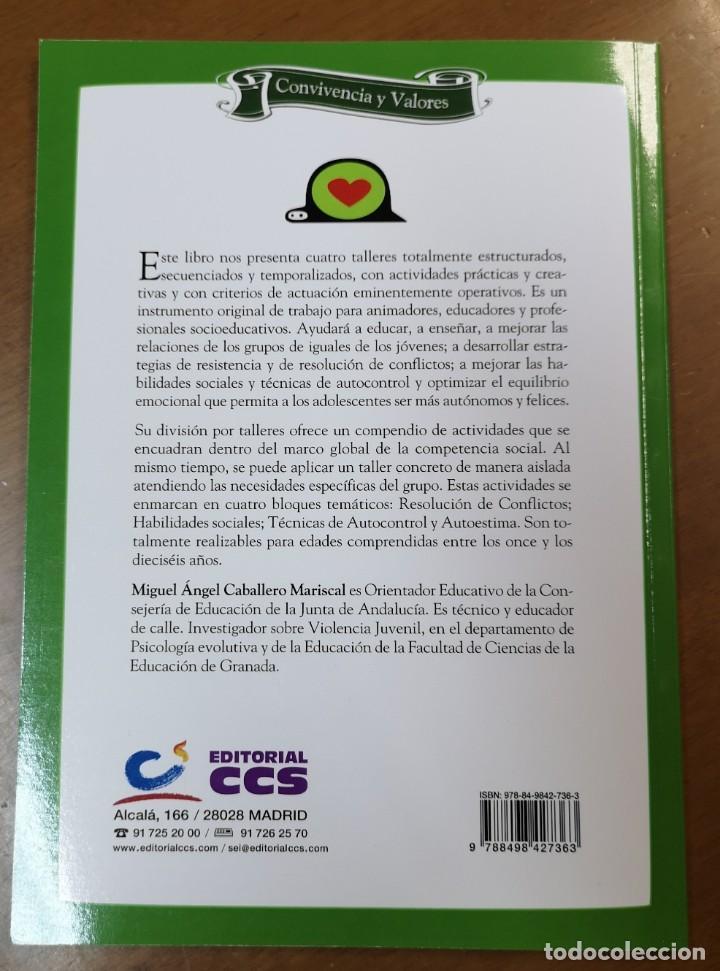 Libros: TALLERES SOCIALES-Miguel Angel Caballero-Convivencia y valores-Habilidades sociales- Editorial CCS - Foto 2 - 218399240