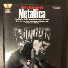 Livros: METODO GUITARRA METALLICA. CON TABLATURA Y CD. NUEVO. OPORTUNIDAD. Lote 220736106