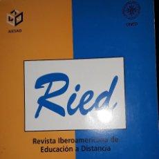 Libros: REVISTA IBEROAMERICANA DE EDUCACION A DISTANCIA. Lote 221814495