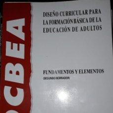 Libros: DISEÑO CURRICULAR PARA LA FORMACIÓN BASICA DE LA EDUCACION DE ADULTOS.. Lote 221816057