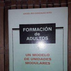 Libros: FORMACION DE ADULTOS.UN MODELO DE UNIDADES MODULARES. ANGEL-PIO GONZÁLEZ. Lote 222222390