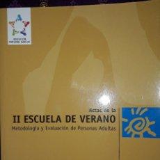 Libros: METODOLOGIA Y EVALUACION DE PERSONAS ADULTAS.. Lote 222225651