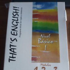 Libros: PROGRAMA OFICIAL INGLÉS DISTANCIA.THAT'S ENGLISH !.. Lote 228592755