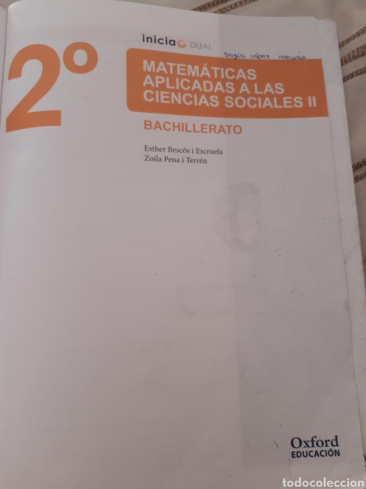 Libros: Matemáticas aplicadas a las ciencias sociales II Oxford education - Foto 2 - 229063600