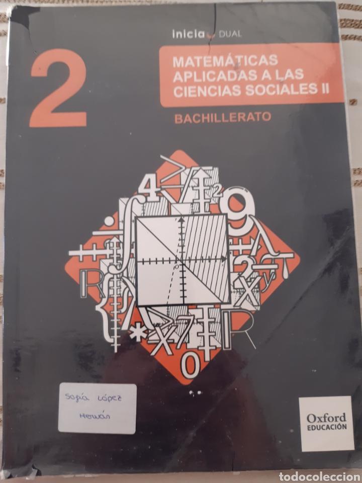 MATEMÁTICAS APLICADAS A LAS CIENCIAS SOCIALES II OXFORD EDUCATION (Libros Nuevos - Educación - Pedagogía)