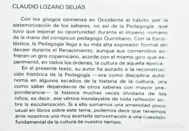 Libros: LA ESCOLARIZACION. CLAUDIO LOZANO - Foto 2 - 239566760