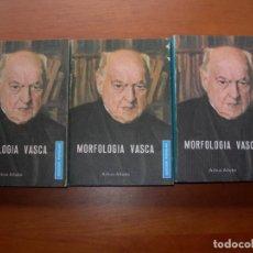 Libros: MORFOLOGÍA VASCA / AZKUE ALTUBE / 3 TOMOS. Lote 244702395