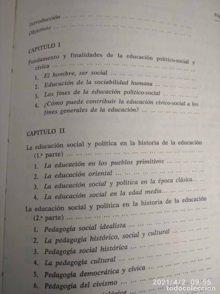 Libros: Educación político-social y cívica para Escuelas de Magisterio Primer y segundo curso. - Foto 8 - 252418370