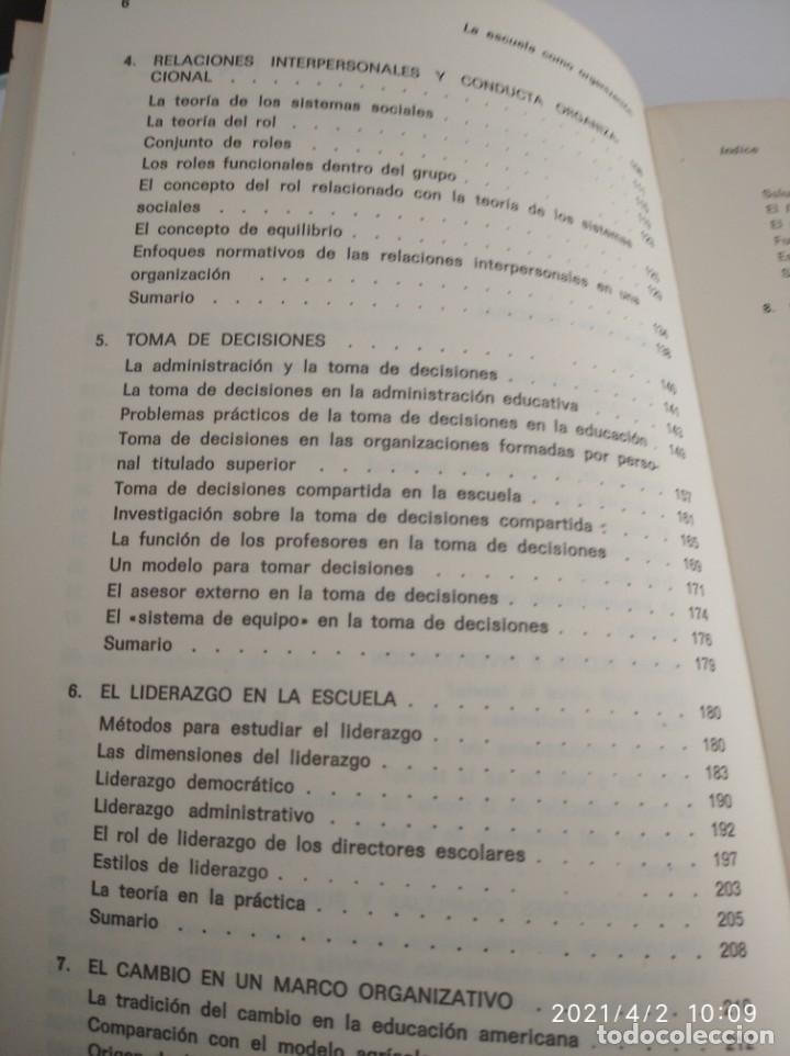 Libros: La escuela como organización: Tipos de conducta y práctica organizativa. - Foto 6 - 252420160