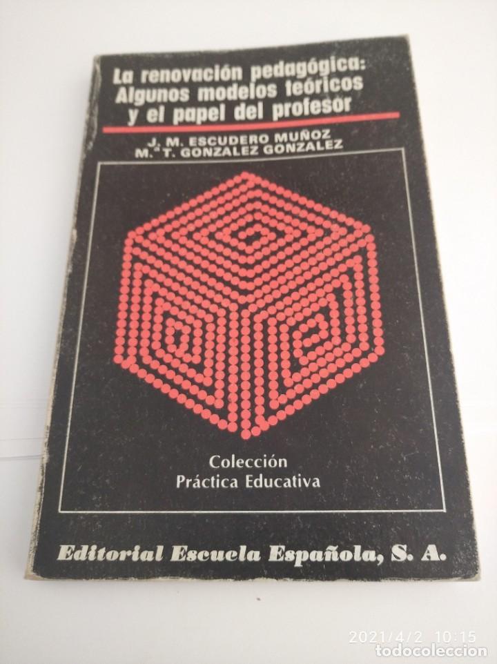 LA RENOVACIÓN PEDAGOGÍA: ALGUNOS MODELOS TEÓRICOS Y EL PAPEL BDEL PROFESOR. (Libros Nuevos - Educación - Pedagogía)