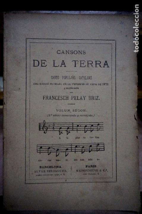 PELAY BRIZ.CANSONS DE LA TERRA.CANTS POPULARS CATALANS.VOLUM SEGON(2ª ED.AUM. Y CORRETJIDA). (Libros Nuevos - Educación - Pedagogía)