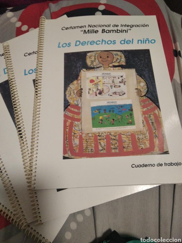 AÑO 1990,4 CUADERNOS DE TRABAJO LOS DERECHOS DE LOS NIÑOS (Libros Nuevos - Educación - Pedagogía)